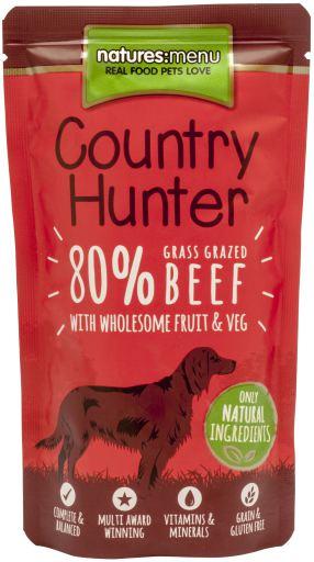 NATURES MENU Country Hunter Cão Saqueta Carne Vaca