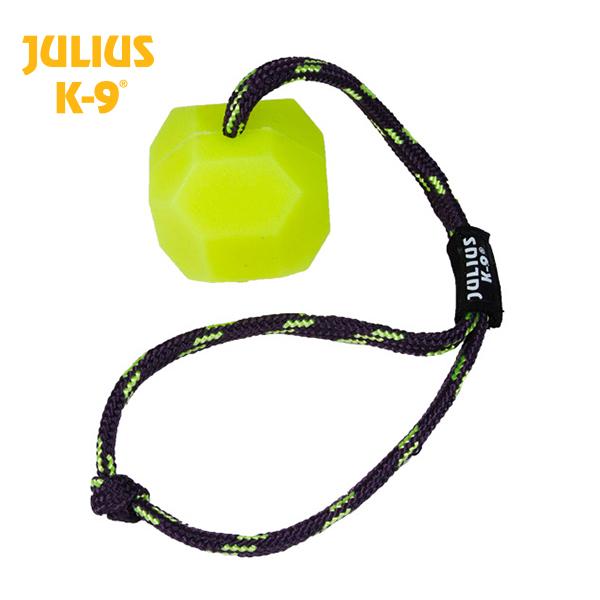 JULIUS K-9 Bola Amarela Fluorescente com Corda